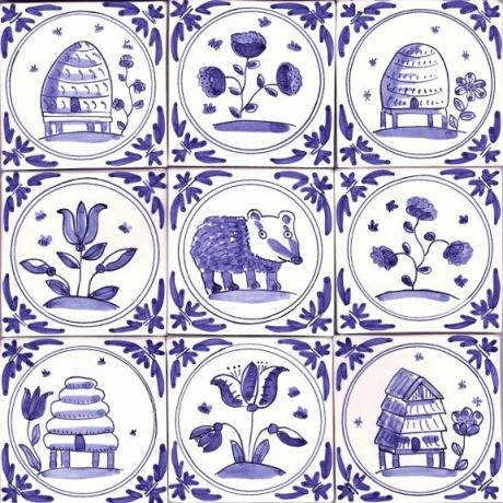 Paentio Teils Ceramig / Ceramic Tile Painting