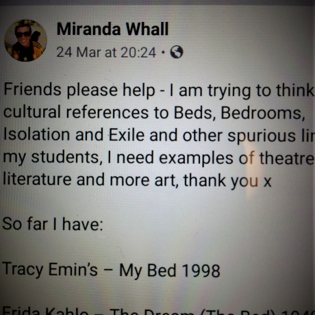 Art In Isolation - Miranda Whall