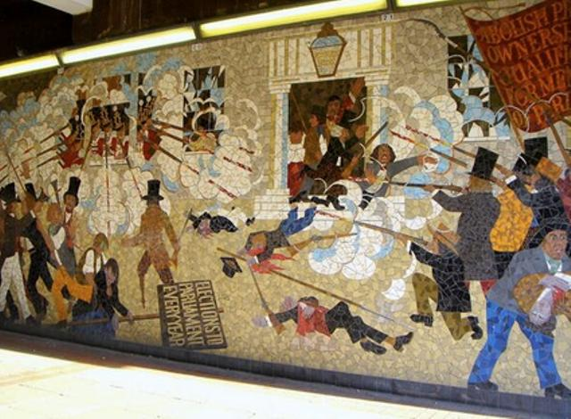 Newport Chartist Mural, The Budds