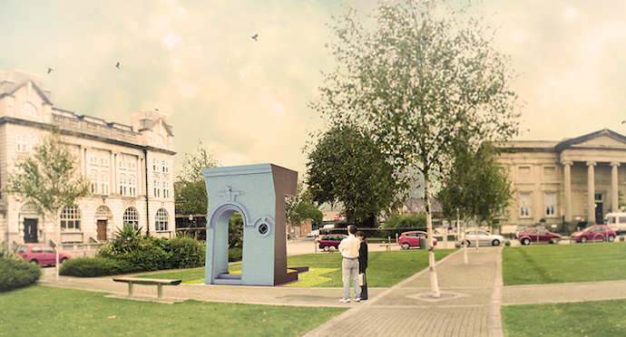 Aberrant Architecture - Swansea Fitted Civic Stage, artist's impression