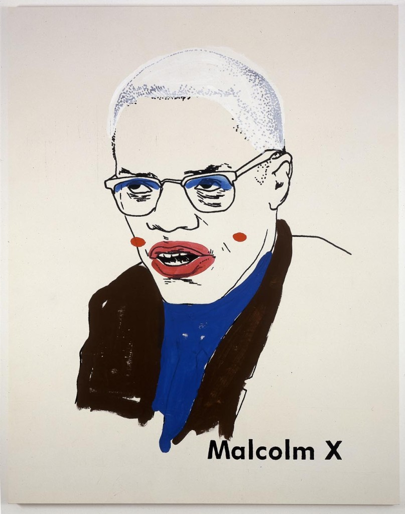 Glenn Ligon - Malcolm X #1 (Small Version #2) 2003 Photo courtesy the artst and Nottingham Contemporary