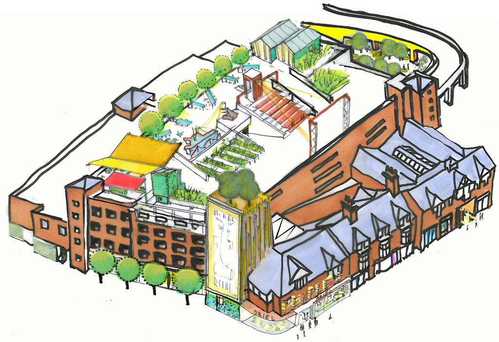 Oriel Wrecsam's proposed redevelopment. Image Copyright Ash Sakula