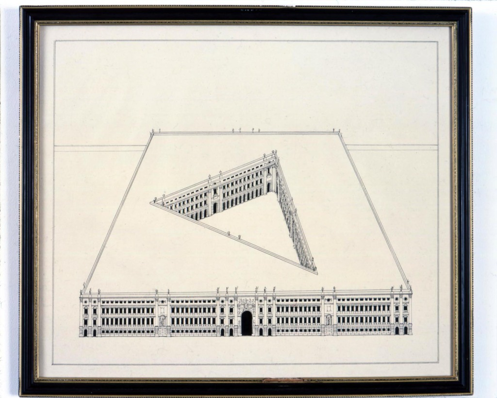 Large Building with Courtyard, 2015, Pablo Bronstein