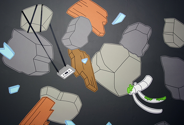 Rubble in Paradise (detail), Vincent James, 2016. Ink on Cut-out Paper, 245 x 459cm. Courtesy of Paper Gallery.